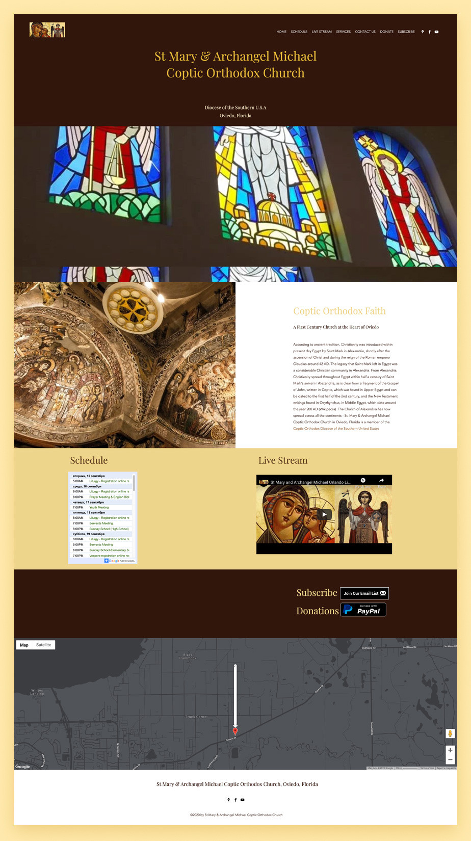 Best church websites example by St. Mary and Archangel Michael Coptic Orthodox Church