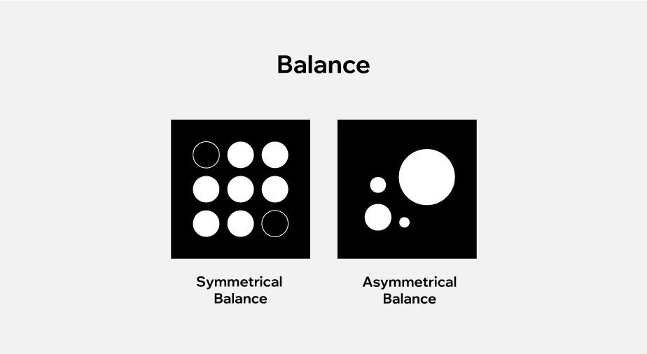 principles of design applied to web design: balance