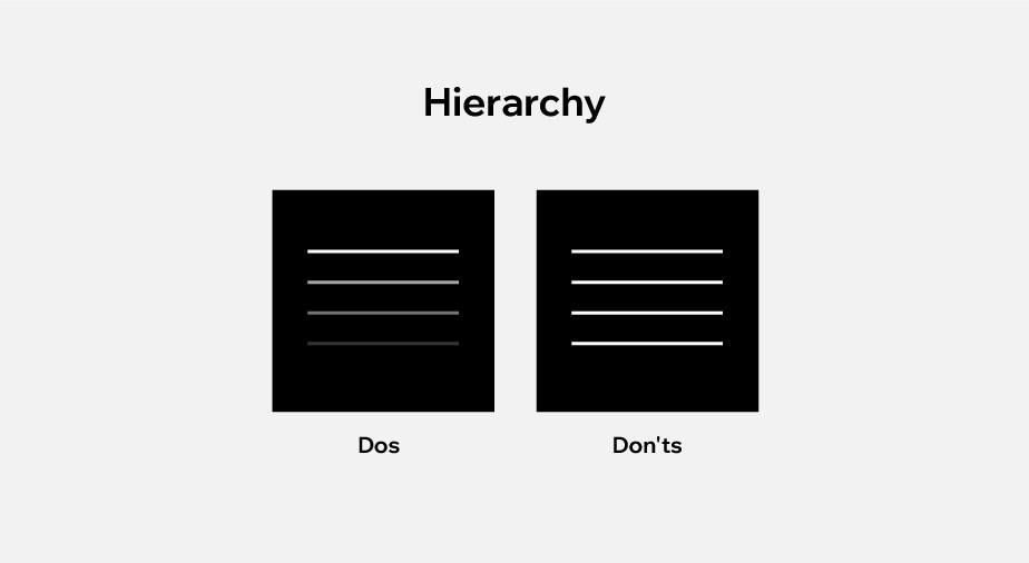 principles of design applied to web design: hierarchy