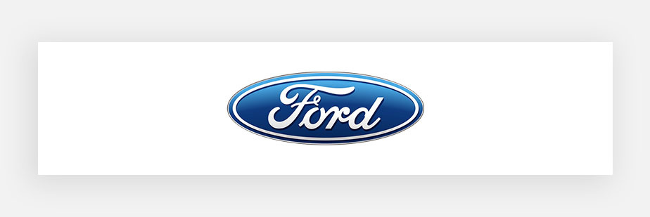 famous logos example by Ford