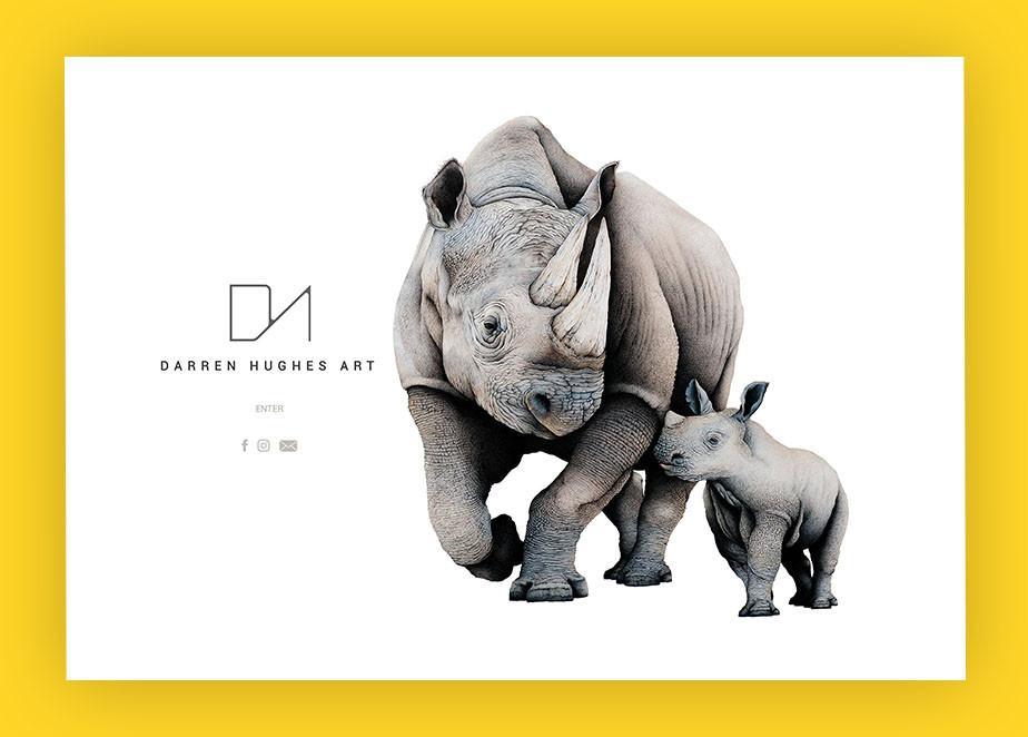 art portfolio website example by Darren Hughes