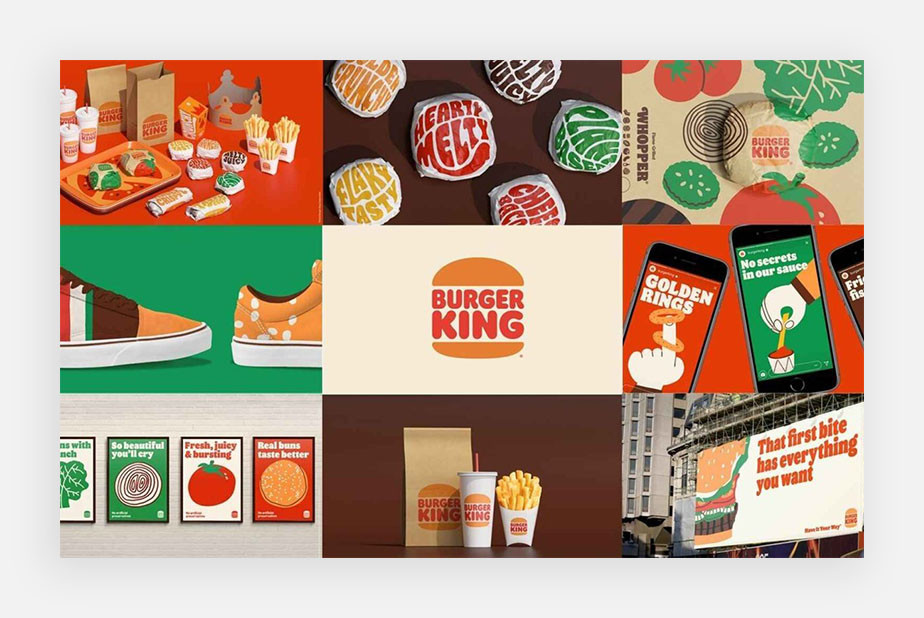 what is brand image example by burger king