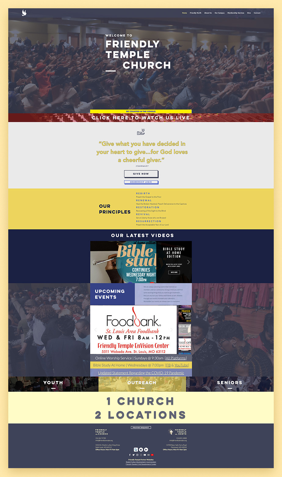 Best church websites example by Friendly Temple Church