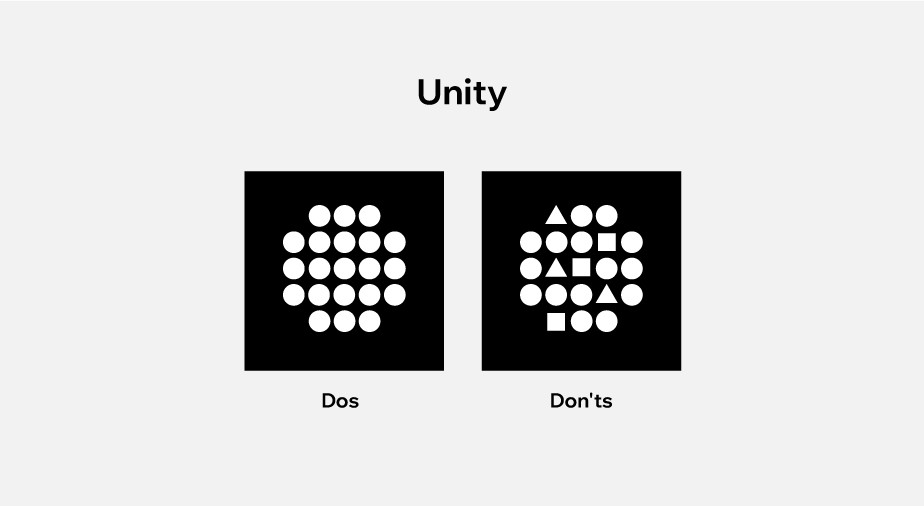 principles of design applied to web design: unity
