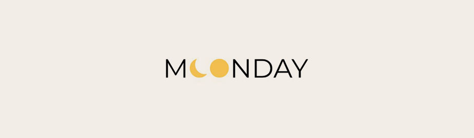 modern logo example by moonday