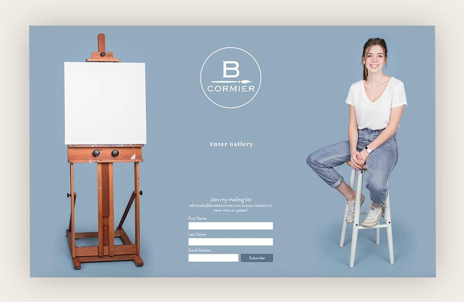 art portfolio website example by brooke cormier