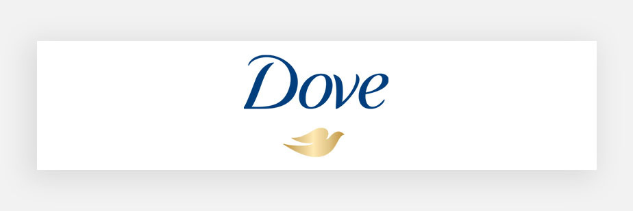 famous logos example by Dove