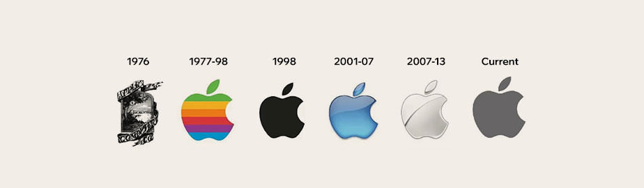 modern logo example by apple