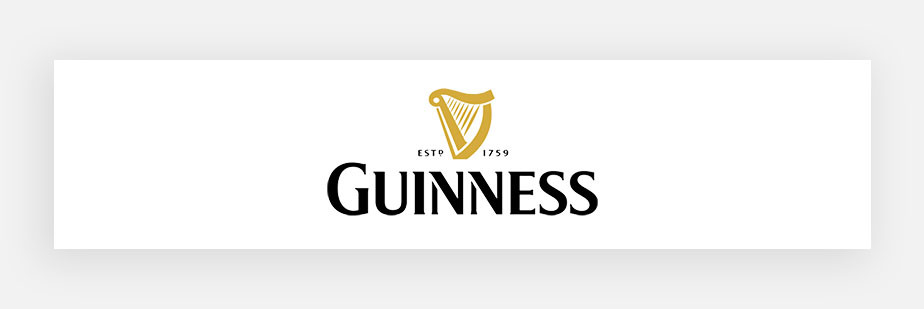 Famous logos example by Guiness