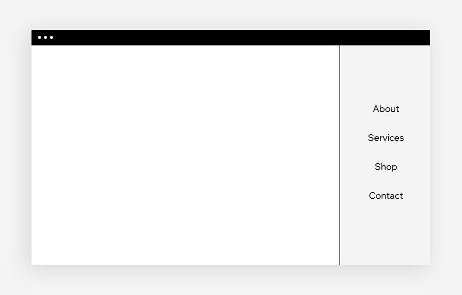 web design sidebar menu