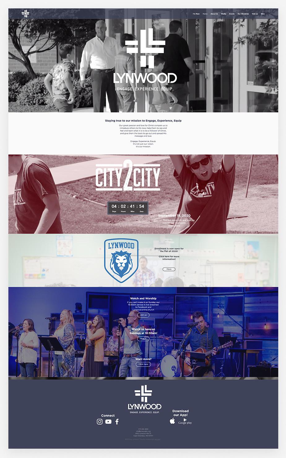 Best church websites example by Lynwood Church