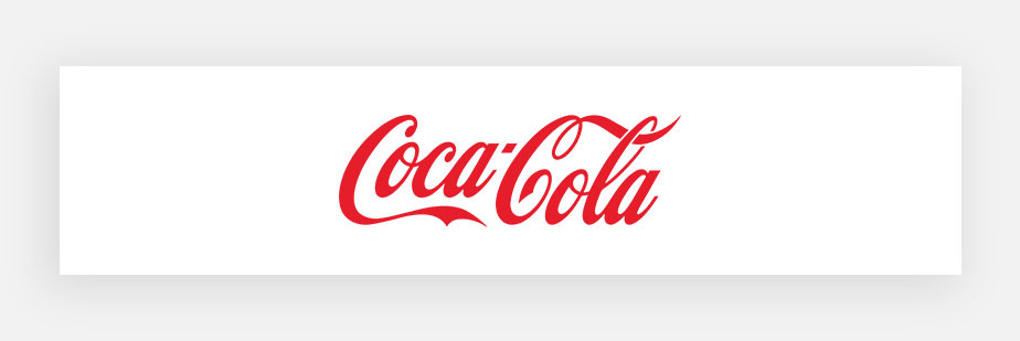 famous logos example by Coca Cola