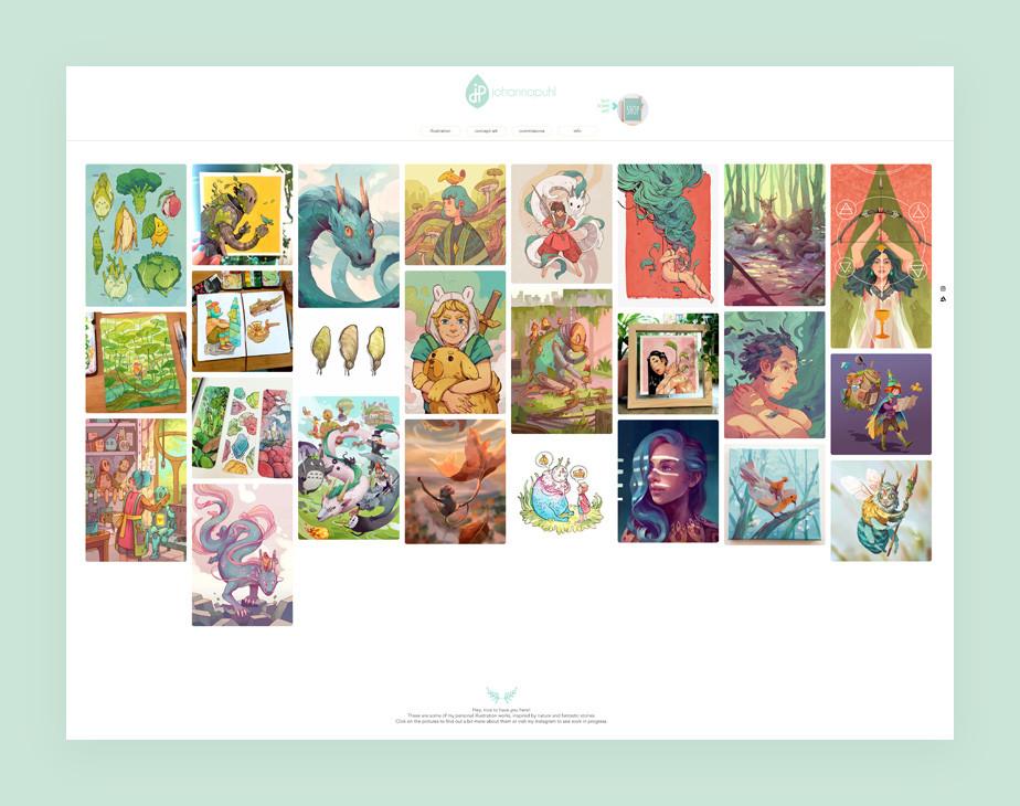 Illustrator website example by Johanna Puhl