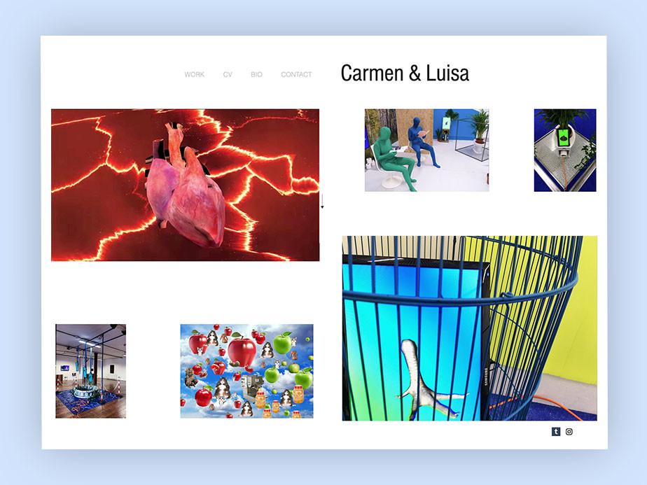 art portfolio website example by carmen & luisa