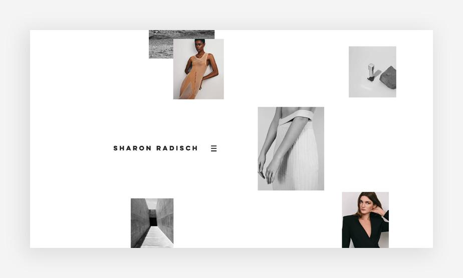 Wix website example by Sharon Radisch