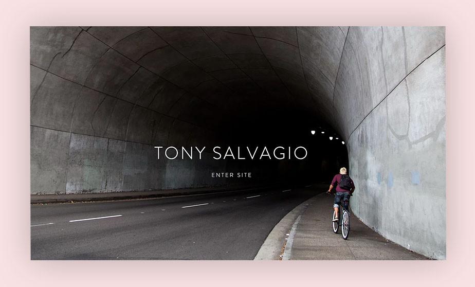 splash page example by tony salvagio