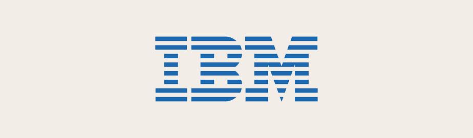 modern logo example by ibm