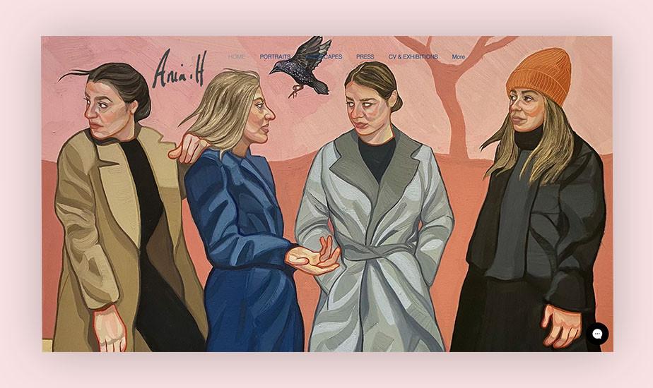 art portfolio website example by ania hobson