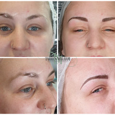 Natural hair stroke microblading over sc