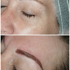laura left.jpgNatural hair stroke microblading