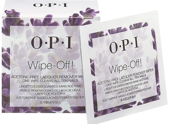 Wipe-off - Acetone vrije wipes - OPI