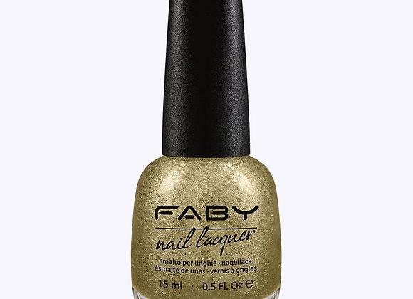 Nagellak gouden glitter Faby