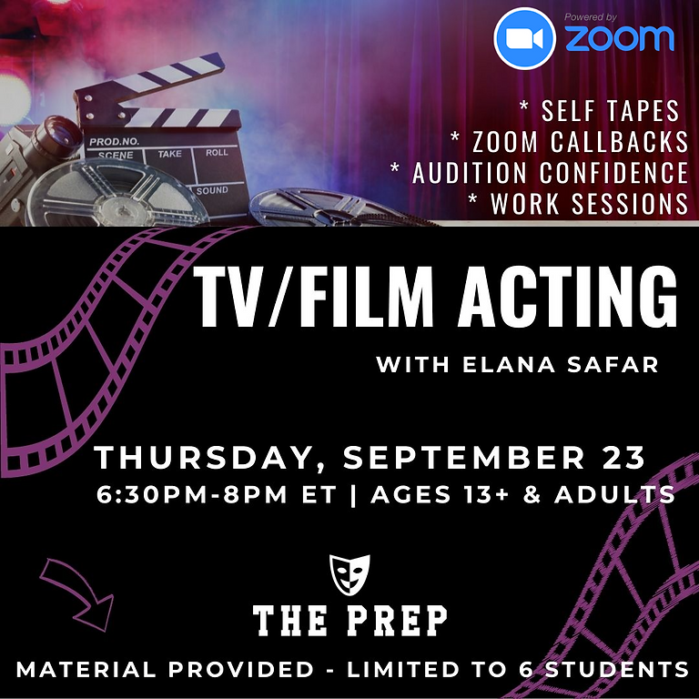 TV/Film Acting w/ Elana Safar