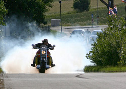 2008 Andy Werner burning rubber at Pullm