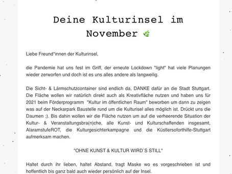Kulturinsel Newsletter - November