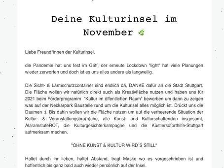 Kulturinsel Newsletter - November