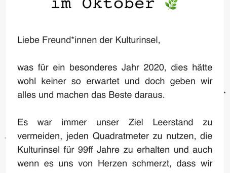 Kulturinsel-Newsletter Oktober