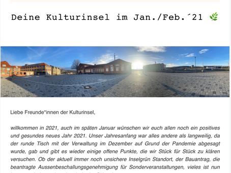 Kulturinsel Newsletter - Januar / Februar