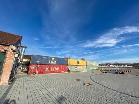 Seecontainer an der Kulturinsel Stuttgart