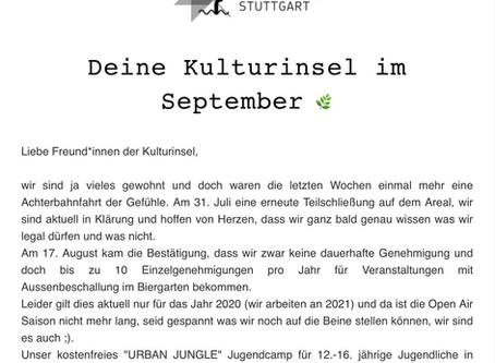 Kulturinsel-Newsletter September