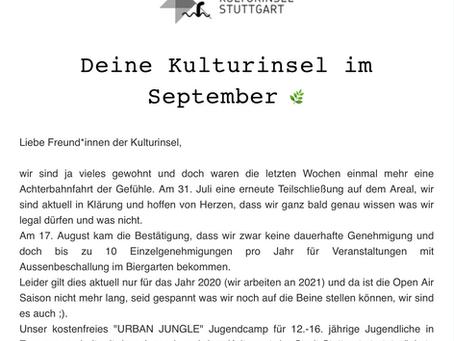Kulturinsel-Newsletter September