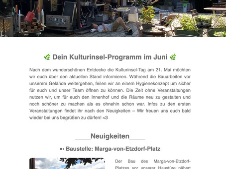 Kulturinsel-Newsletter Juni