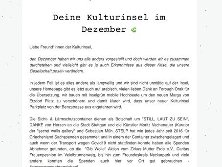 Kulturinsel Newsletter - Dezember