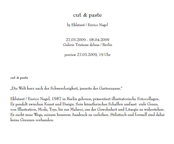 ENRICO NAGEL - CUT & PASTE