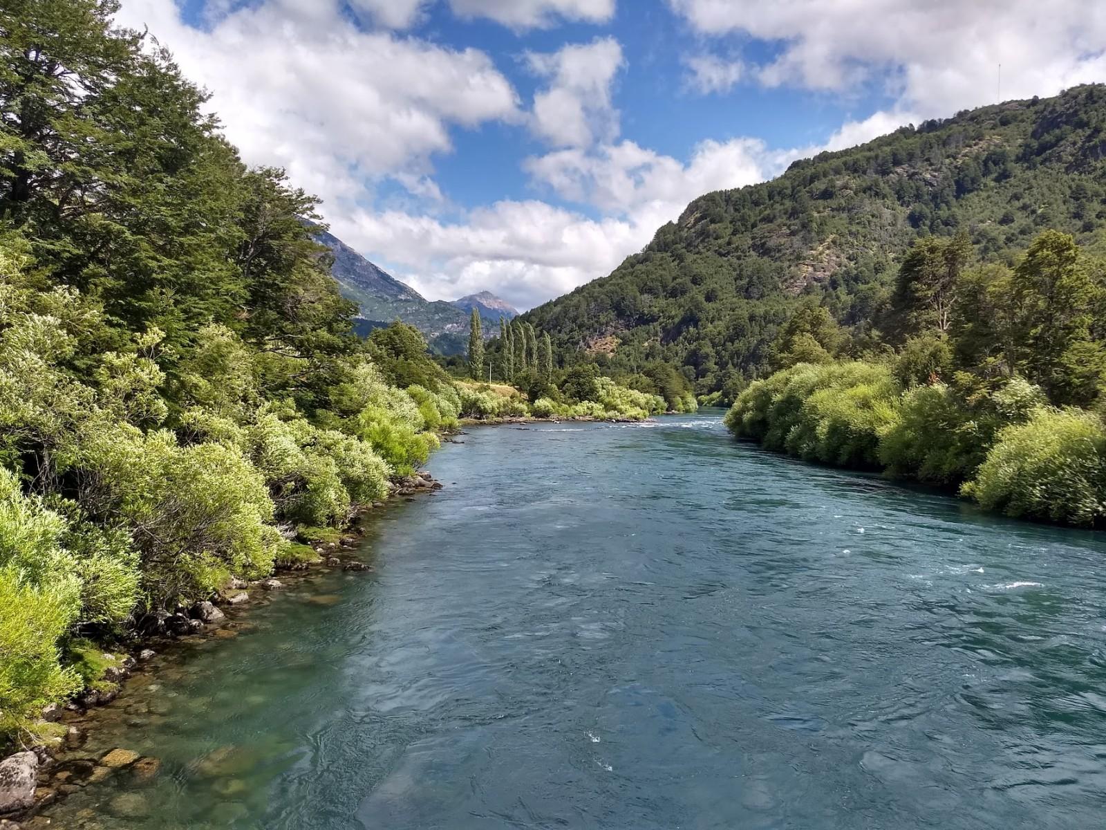 Pasarela Las Escalas, Río Futaleufú