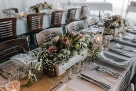 rustic australian table arrangements