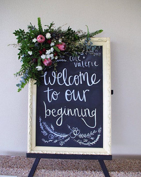 Welcome Sign with australian natives