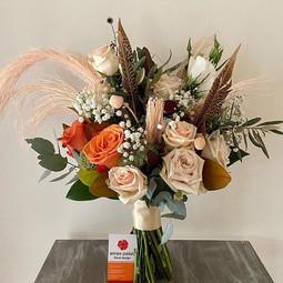Samanthas bridal bouquet  Boho with a mi