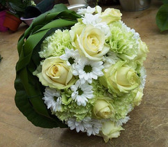 Wedding bouquet green white made for my