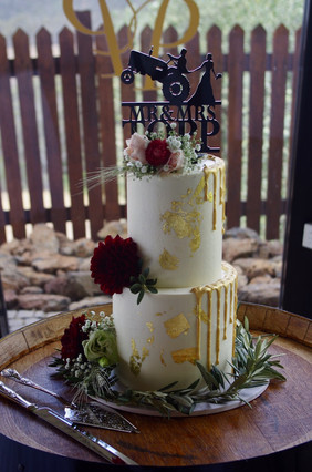cake flowers for a farmers' couple