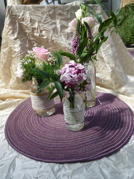 vintage garden styled table arrangements