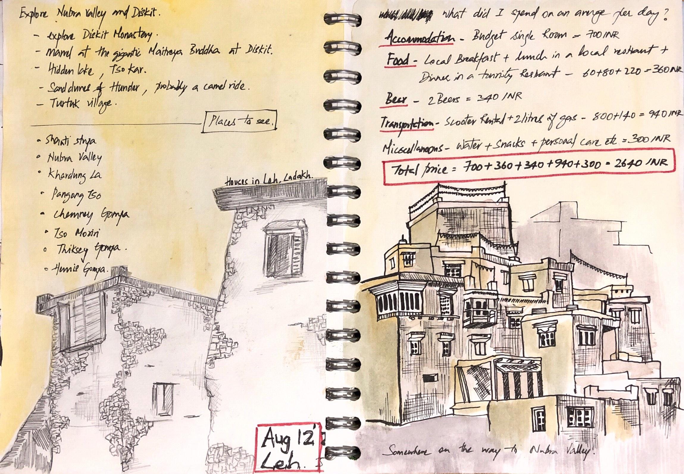 Leh-town-sketch-sooraj
