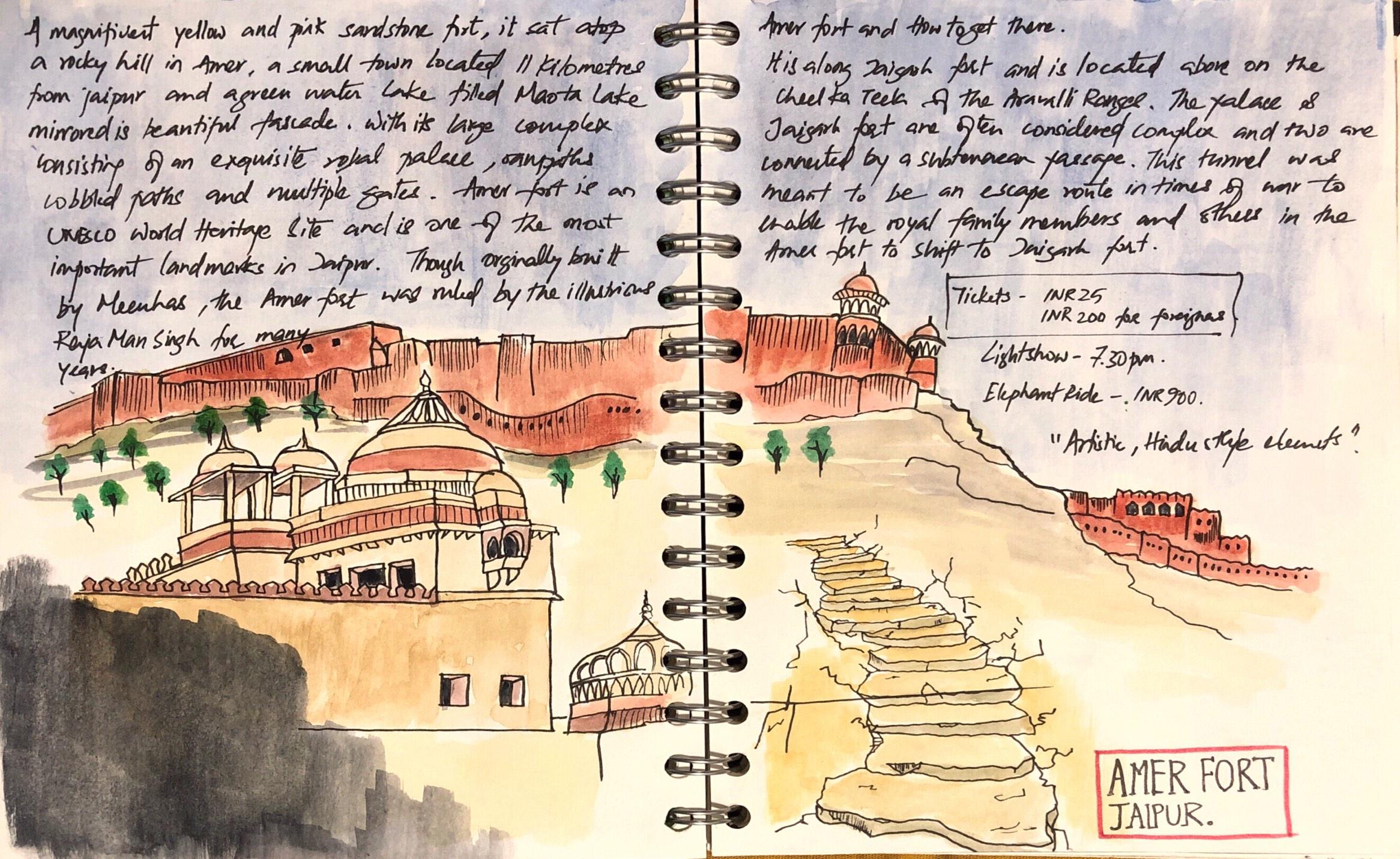 Amer-fort-sketch-jaipur-Sooraj