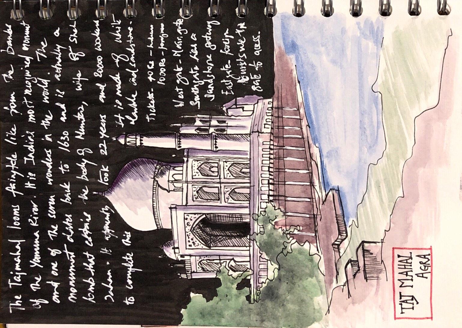 Taj-mahal-agra-sketch-sooraj