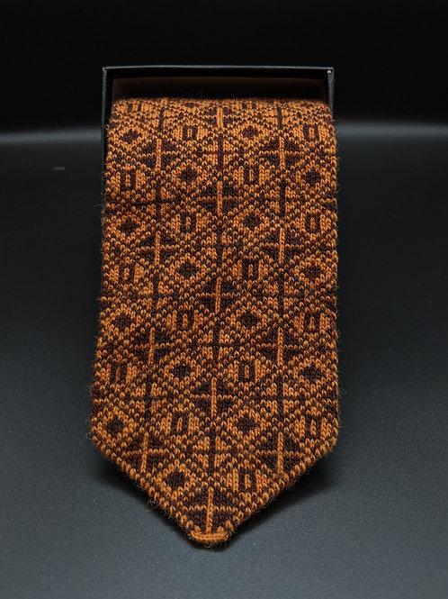 X & O's Tie - Shetland Wool