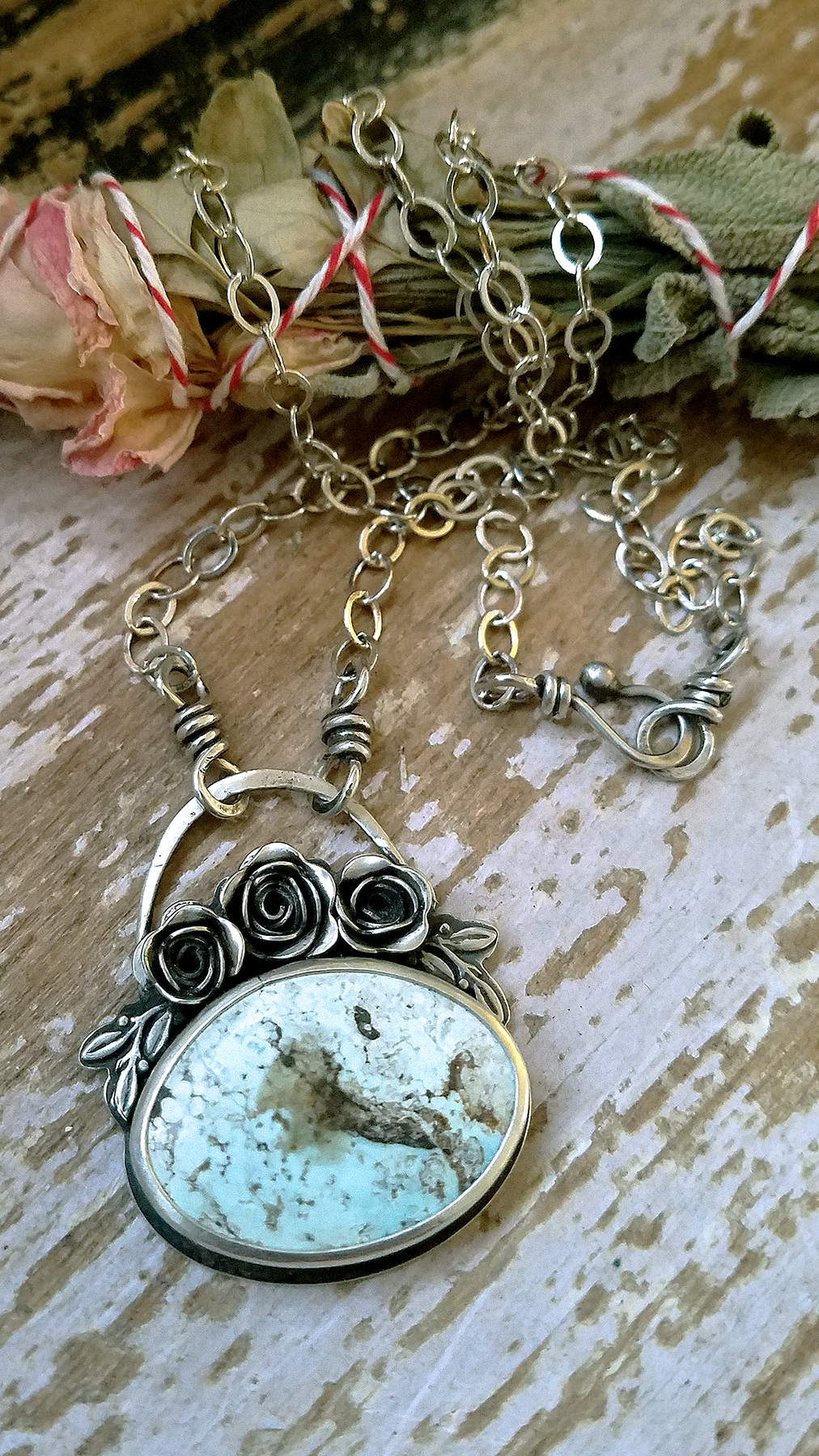dry creek rose pendant